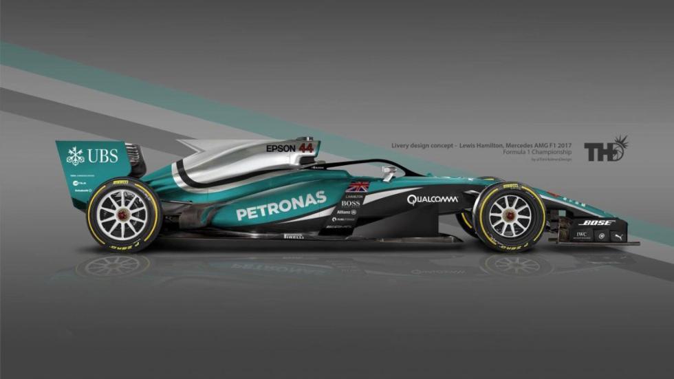 Los diseños de los F1 del futuro - Mercedes