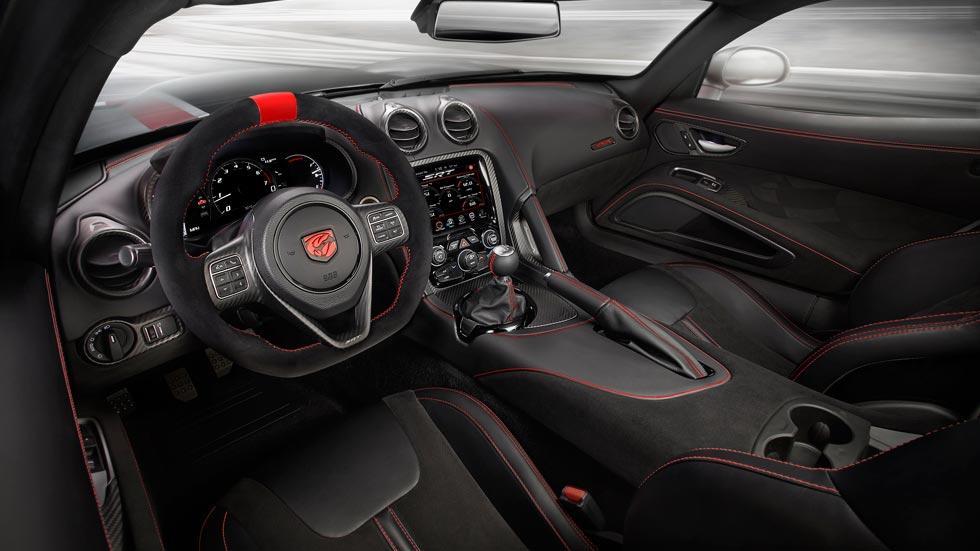 Dodge Viper ACR interior deportivo radical