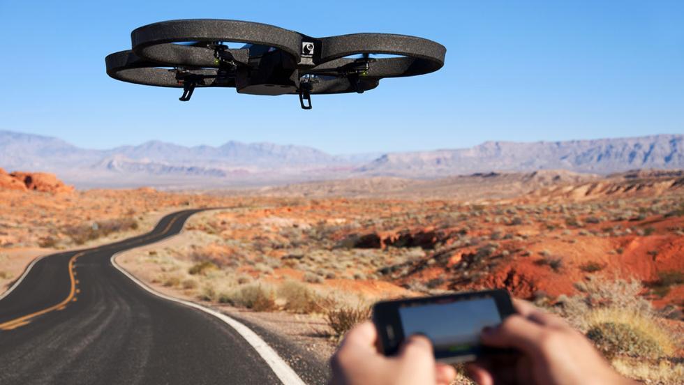 Dron controlado por un smarthpone