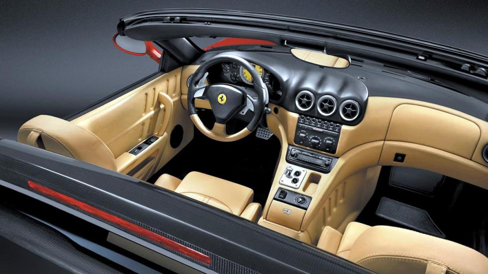 Ferrari 575 Superamerica interior descapotable