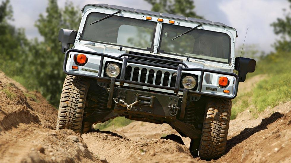 Hummer H1 frontal tierra 4x4