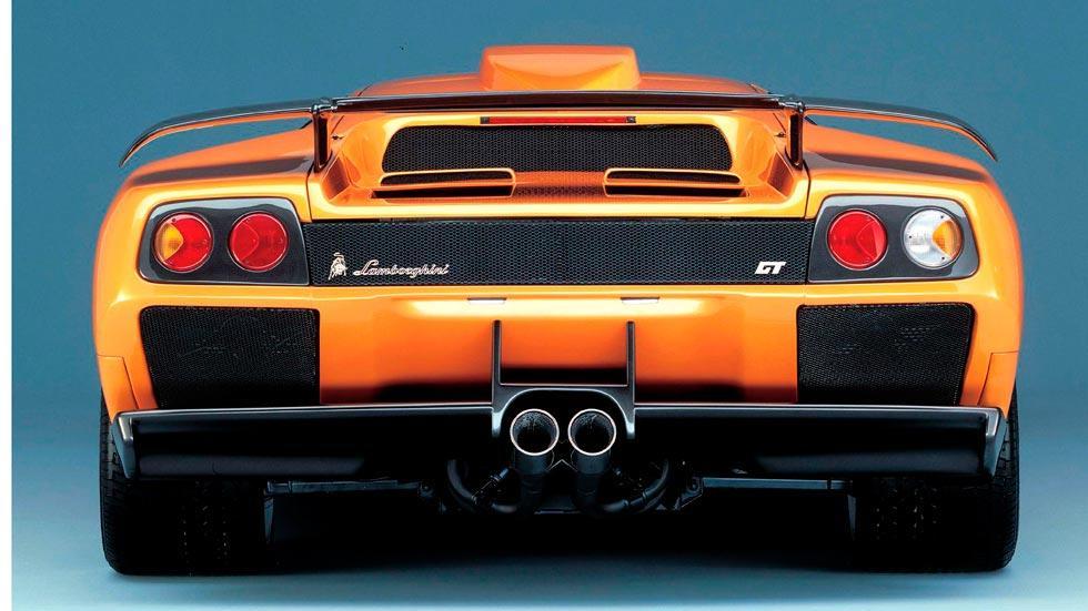 Lamborghini Diablo GT trasera escapes aleron