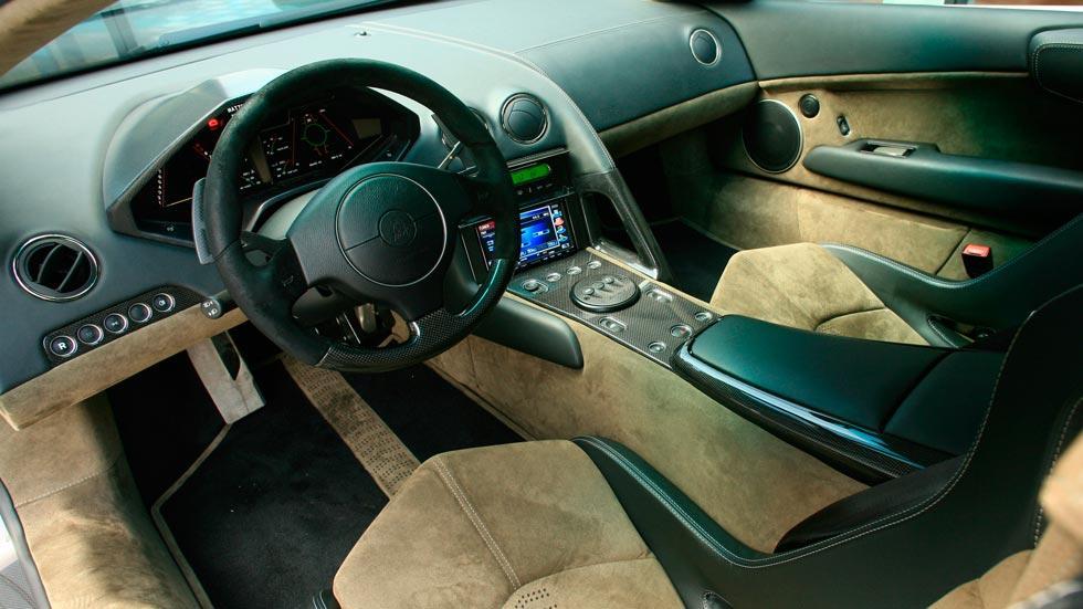 Lamborghini Reventon interior cuero alcantara