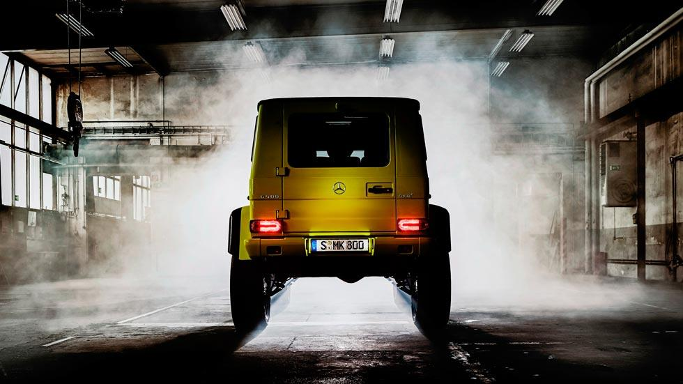Mercedes G 500 4x4 trasera amarillo