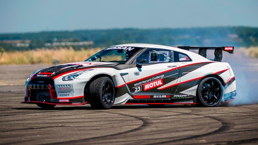 Nissan GT-R Drift record lateral derrape