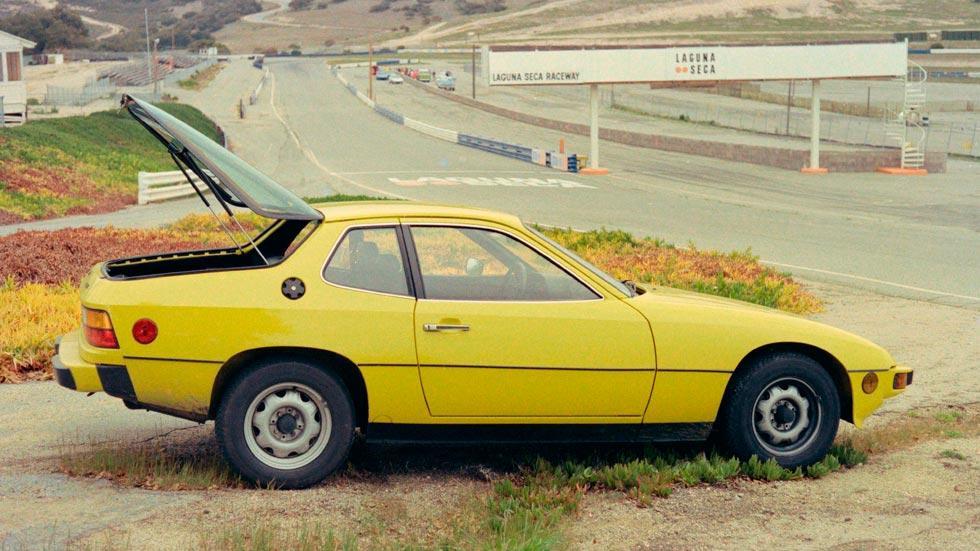 Porsche 924 lateral amarillo