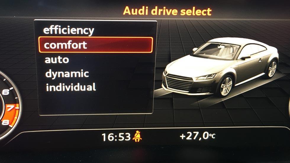 Prueba Audi TTS drive select