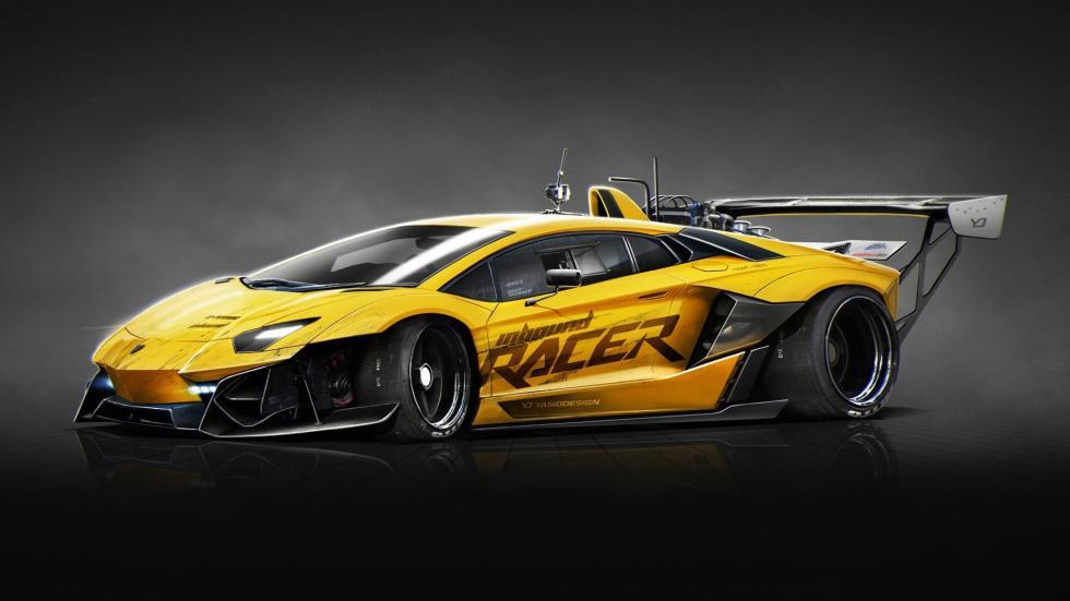 Yasid Oozeear Aventador dibujo diseño