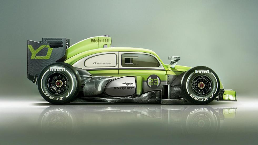 Yasid Oozeear Beetle F1 dibujo diseño