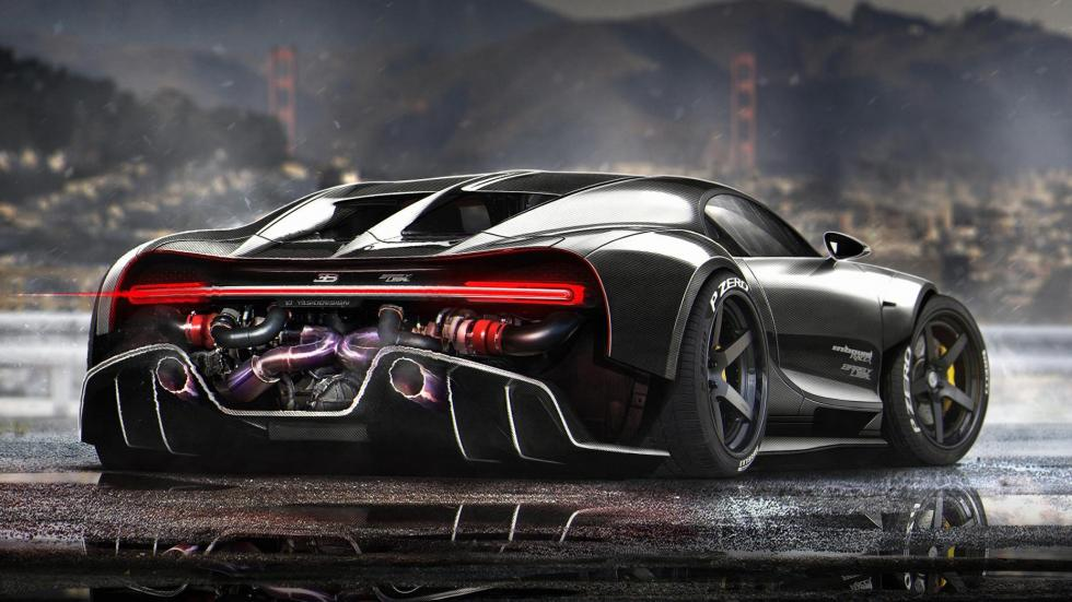 Yasid Oozeear Bugatti Chiron diseño dibujo