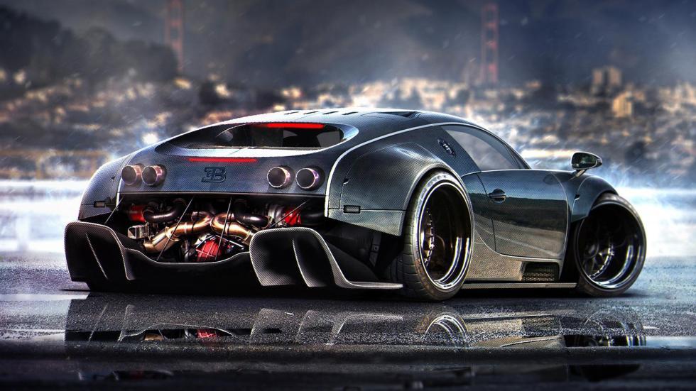 Yasid Oozeear Bugatti Veyron diseño dibujo render
