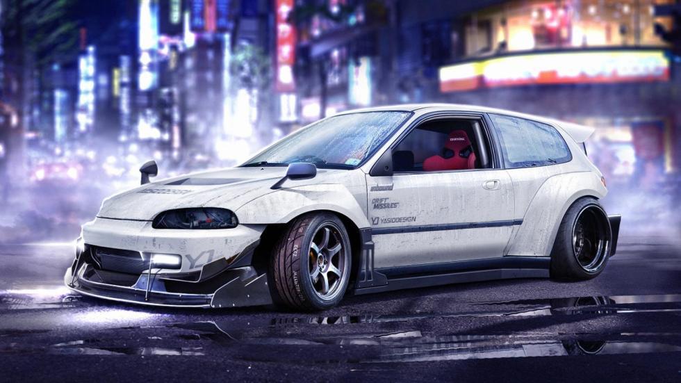 Yasid Oozeear Honda Civic JDM diseño dibujo