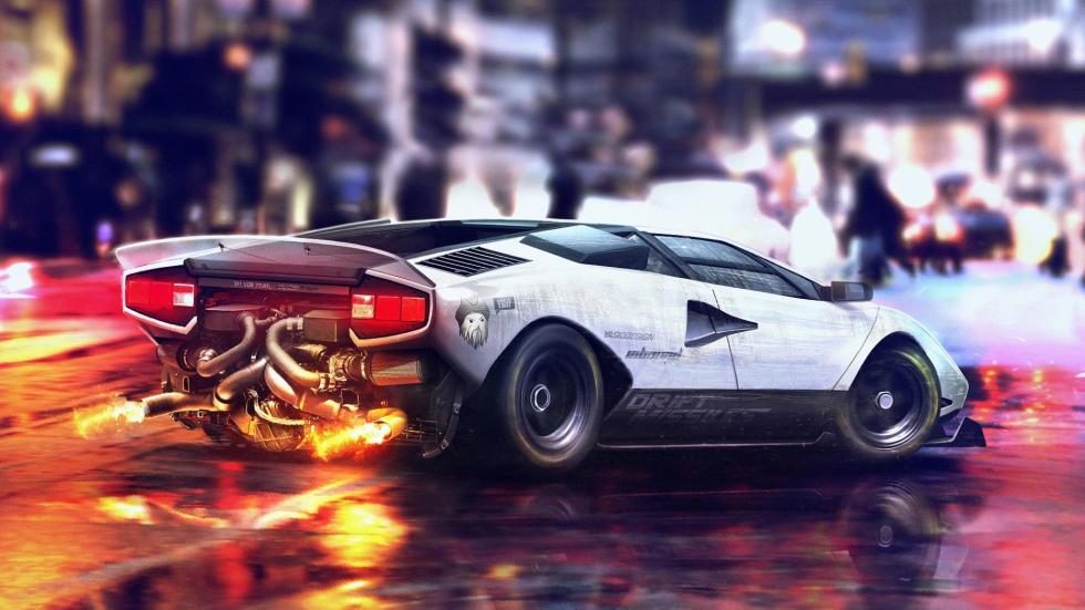 Yasid Oozeear Countach Lamborghini dibujo diseño
