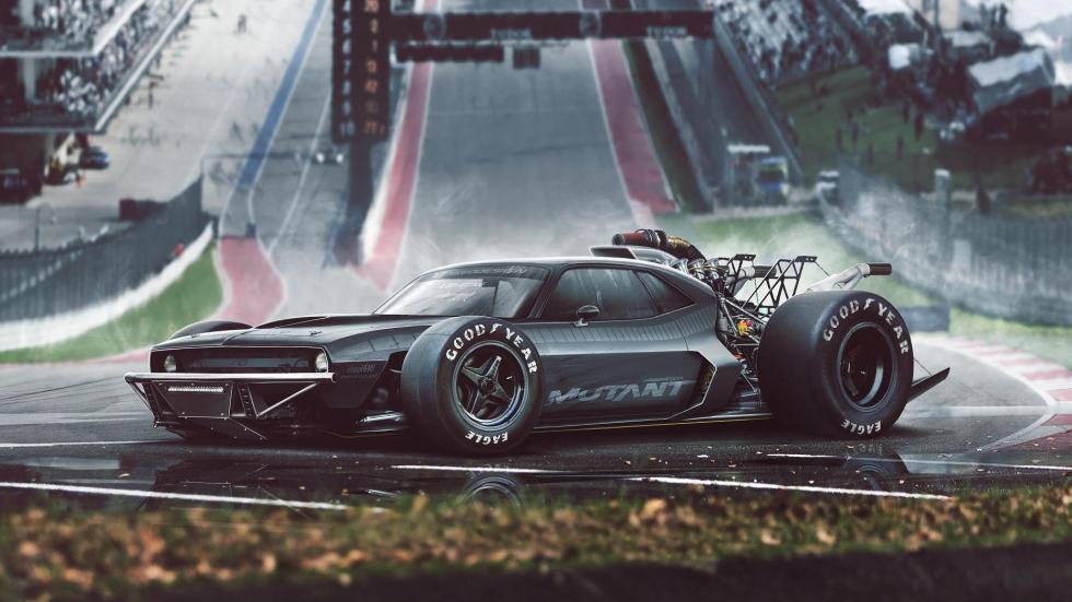 Yasid Oozeear F1 Muscle render diseño dibujo