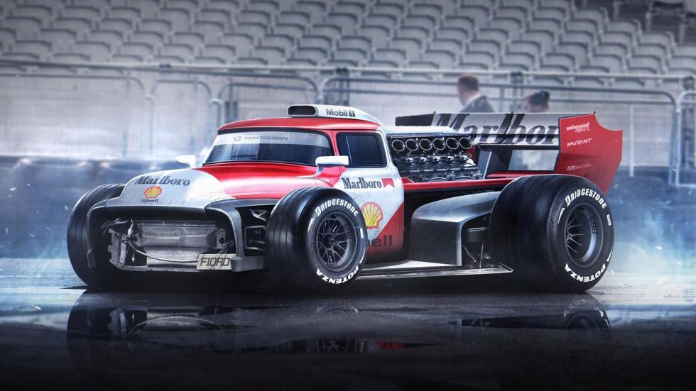 Yasid Oozeear Furgoneta F1 diseño dibujo render