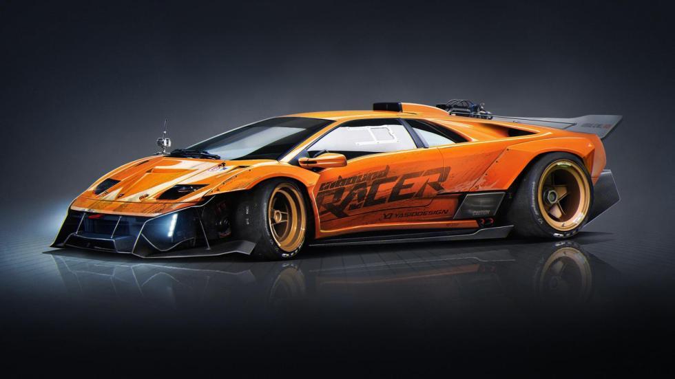 Yasid Oozeear Lamborghini Diablo diseño dibujo