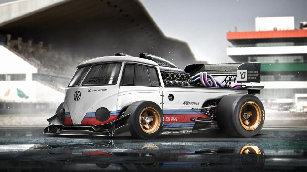 Yasid Oozeear F1 Volkswagen T1 render dibujo