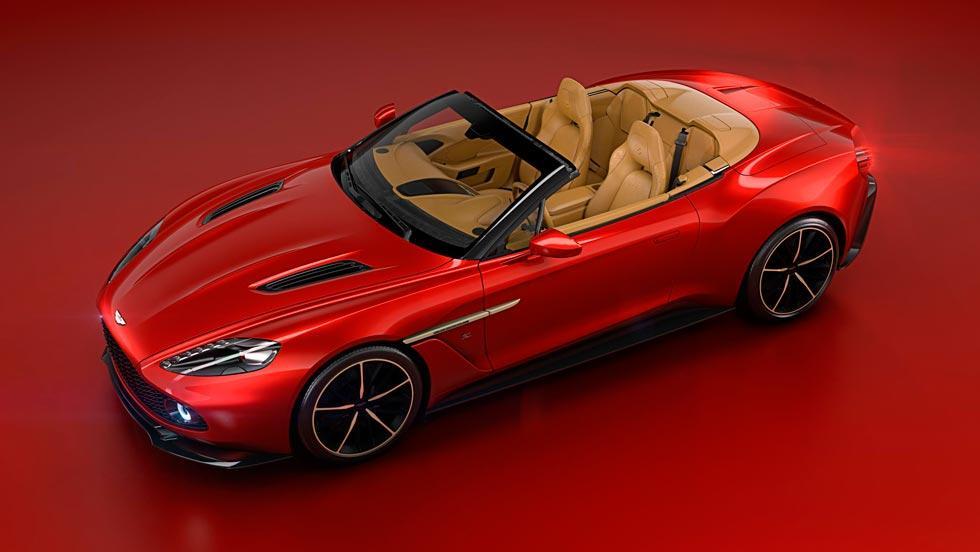 Aston Martin Vanquish Zagato Volante descapotable lujo exclusivo limitado rojo
