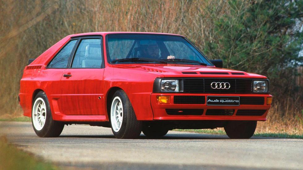 Audi Sport Quattro deportivo clásico cinco cilindros