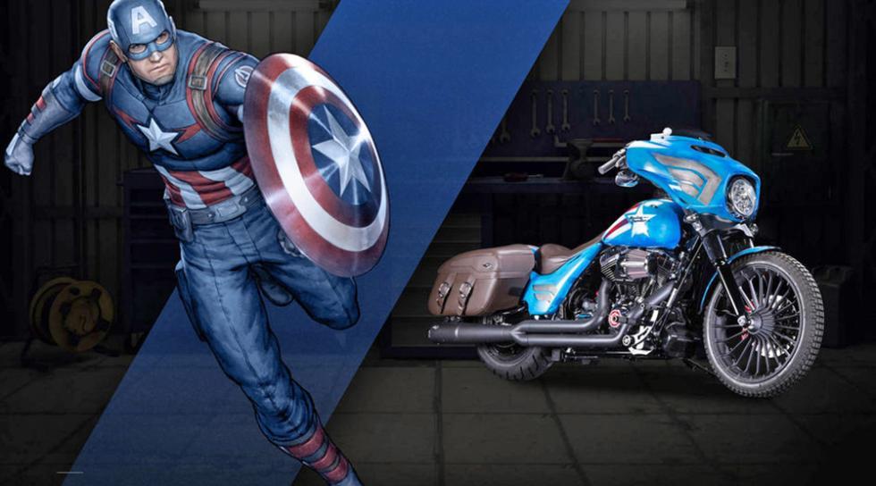 Capitán América - Harley-Davidson Street Glide Special
