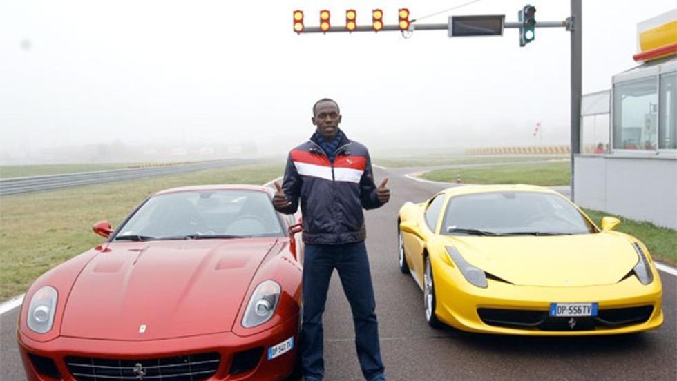 Ferrari y Bolt, dos mitos de la velocidad