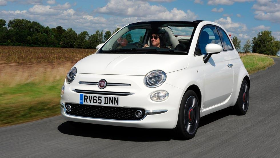 Fiat 500C descapotable urbano cool blanco