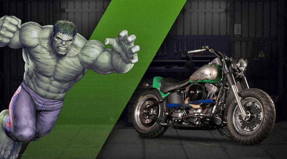 Hulk - Harley-Davidson Fat Boy