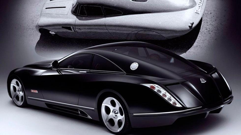 Maybach Exelero trasera pasado retro art deco lujo coupé