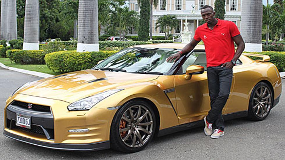 El Nissan GT-R dorado de Usain Bolt