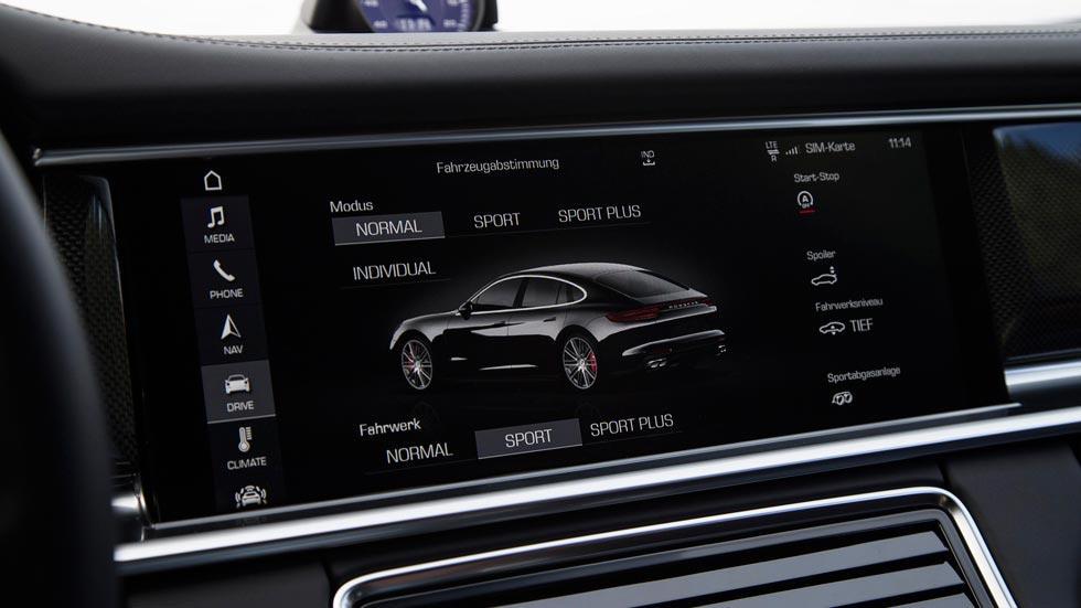 Prueba Porsche Panamera Turbo pantalla lujo tecnología
