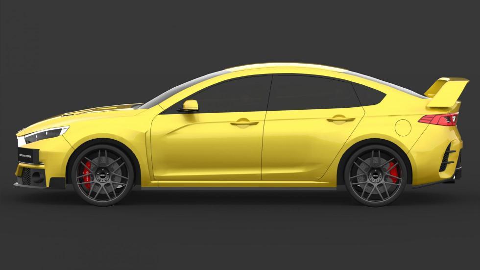 Render Mitsubishi Evo (V)