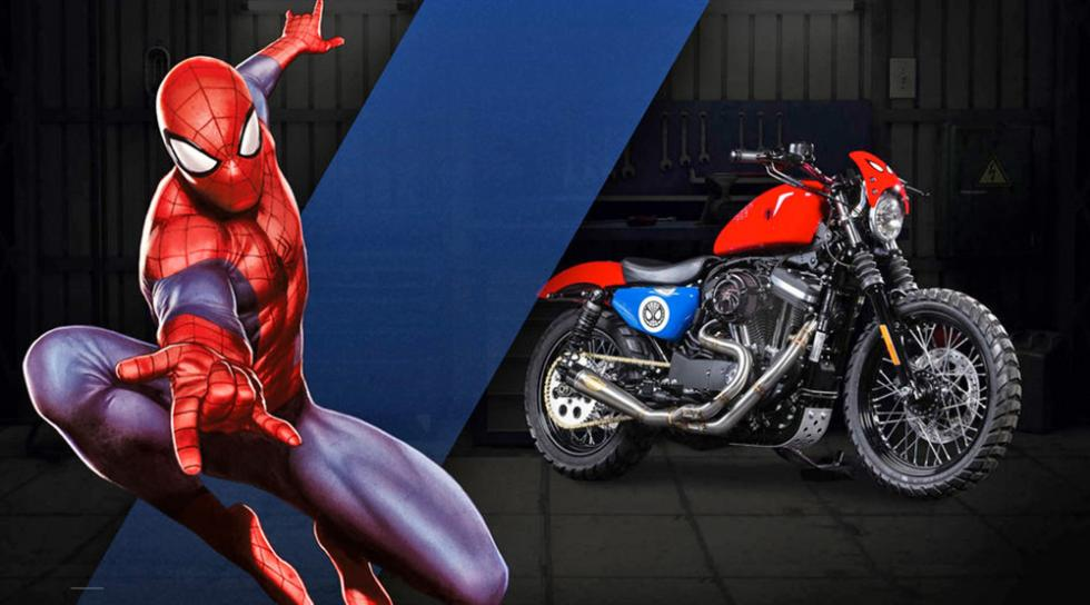 Spiderman - Harley-Davidson Iron 883