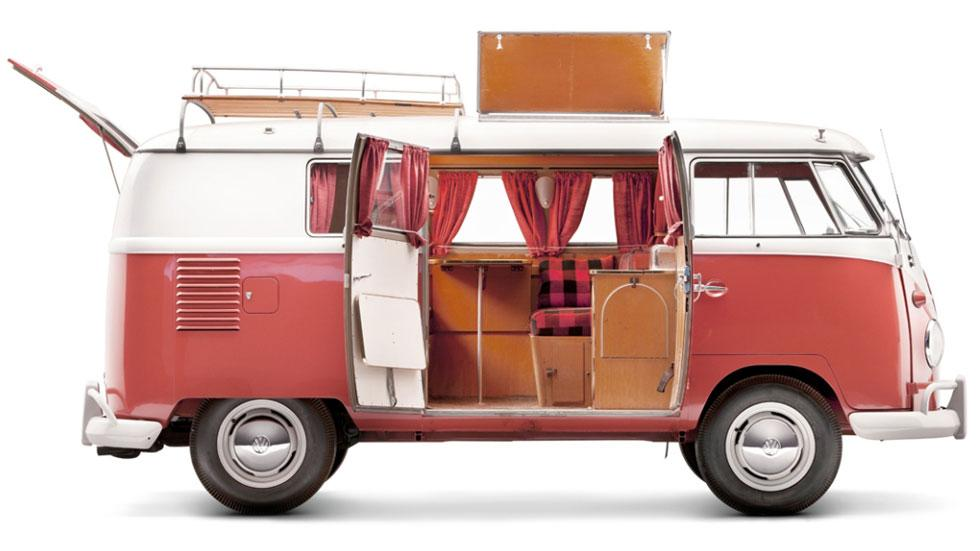 Volkswagen T1 camper lateral camping
