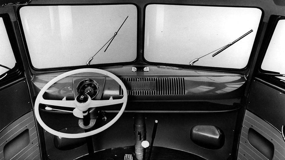Volkswagen T1 interior clásico