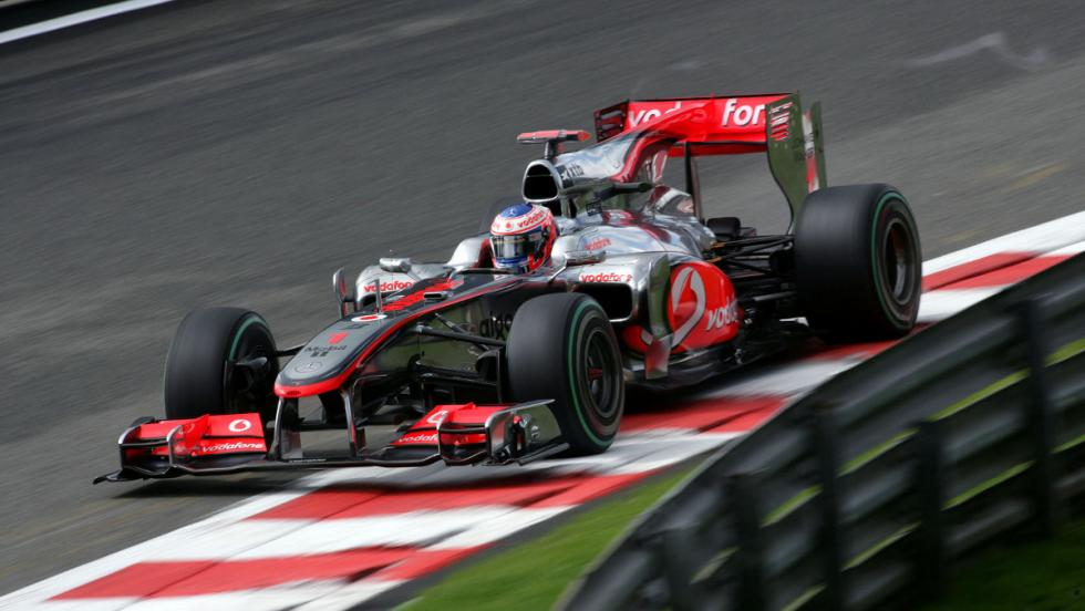 Button se incorporó a McLaren con el MP4-25 en 2010