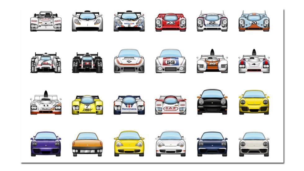 Y ganadores de Le Mans y versiones especiales como el 996 GT3