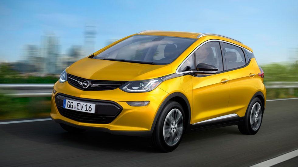 Opel Ampera-e coche eléctrico monovolumen compacto amarillo eléctricos