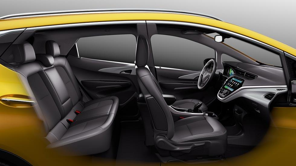 Opel Ampera-e coche eléctrico monovolumen compacto amarillo eléctricos batería