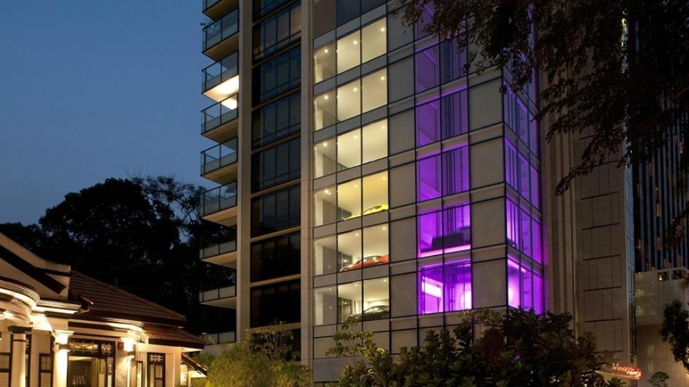 13. Hamilton Scotts, todo un edificio para coches (Singapur)