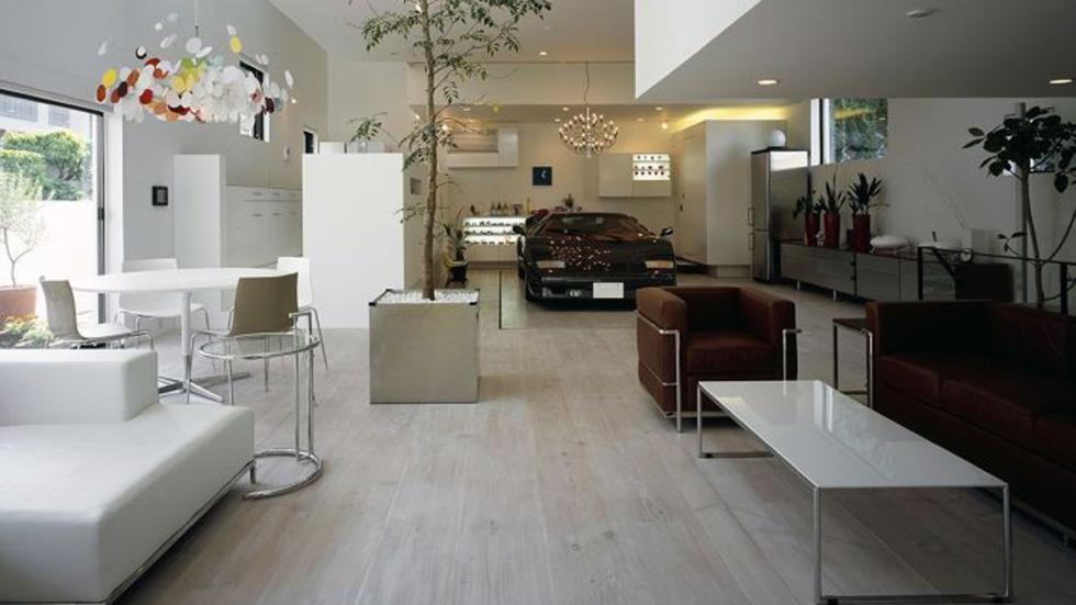 casas-ensueño-garaje-salón-ascensor-japón
