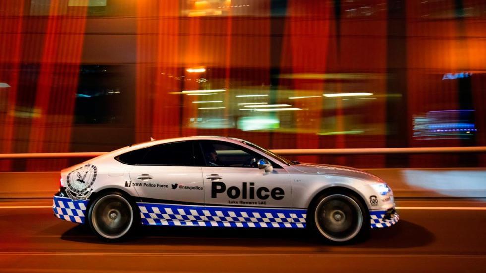 Audi S7 Sportback policía australia nueva gales sur pintura