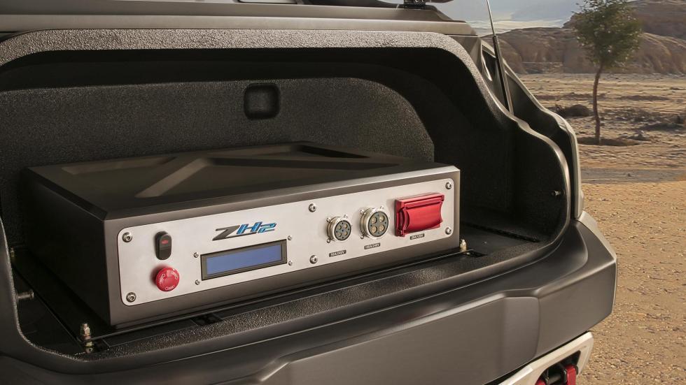 Chevrolet Colorado ZH2 vehículo militar todo terreno hidrógeno pila combustible futuro