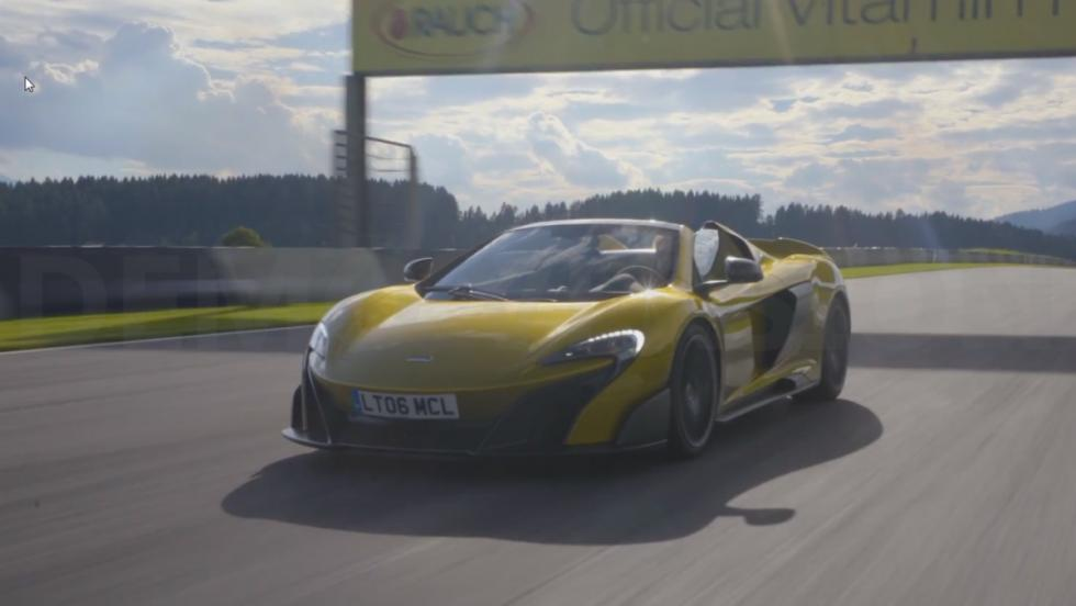 Chris Harris en el McLaren 675 LT Spider
