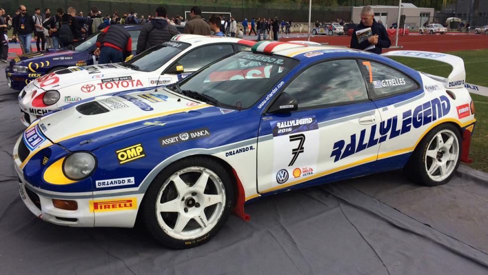 Coches del Rallylegend 2016: Toyota Celica de Gustavo Trelles... conducido por él mismo.