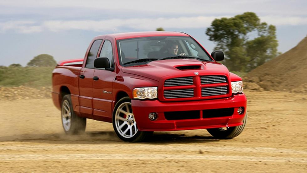 Dodge Ram SRT-10 pick-up pick up deportivo rojo viper V10
