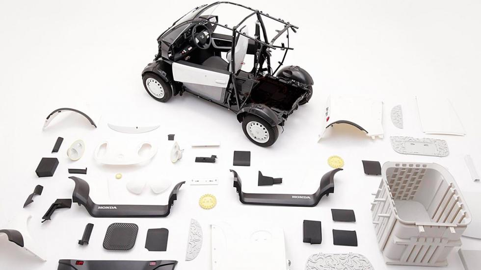 Honda coche impresora 3D futuro utilitario urbano reparto camioneta