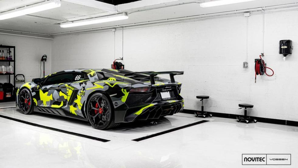 Lamborghini Aventador SV Novitec Torado camuflado vossen wheels deportivo superdeportivo italiano