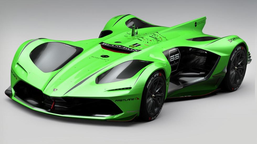 Lamborghini RoboRace conducción autónoma autonomo competición monoplaza futuro fibra carbono