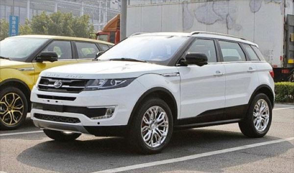 Landwind X7 coches chinos copia china todo terreno SUV range Rover evoque