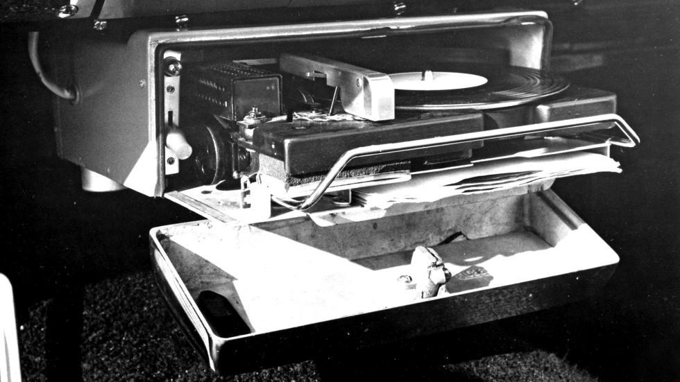 Reproductor vinilos coche tecnología lujo inventos